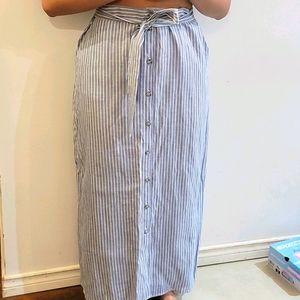 Simons - Button Up Striped Skirt
